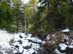 October snow, Minnesota's North Shore