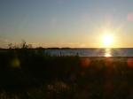 Sun setting 10:08 pm