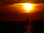 Sailing into the sunset, Holland State Park, MI