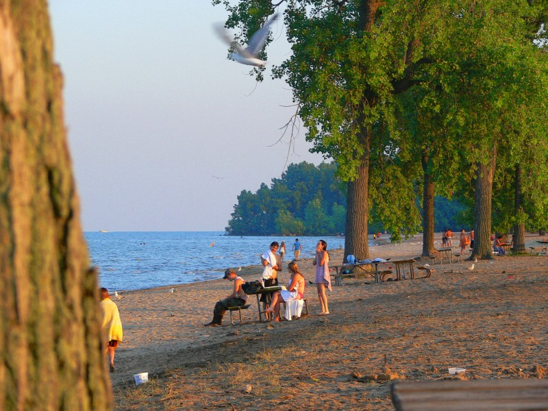 Family day on Lake Erie